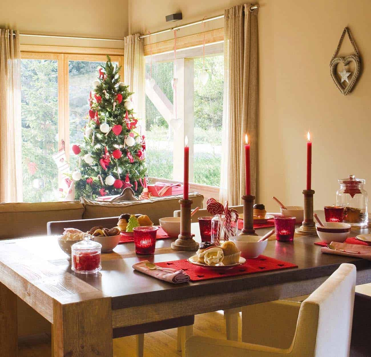 Nordic Style Christmas Decorated Home-13-1 Kindesign