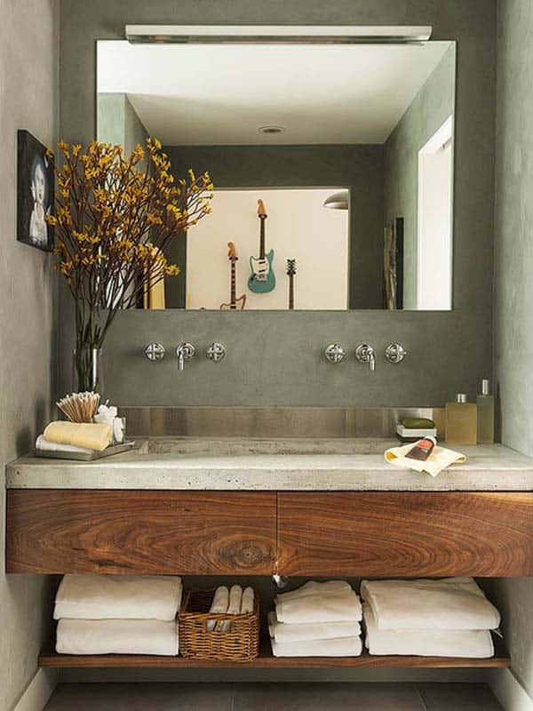 Concrete Bathroom Designs-15-1 Kindesign