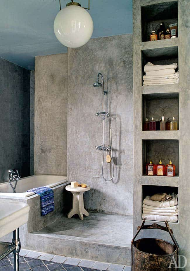 Concrete Bathroom Designs-25-1 Kindesign