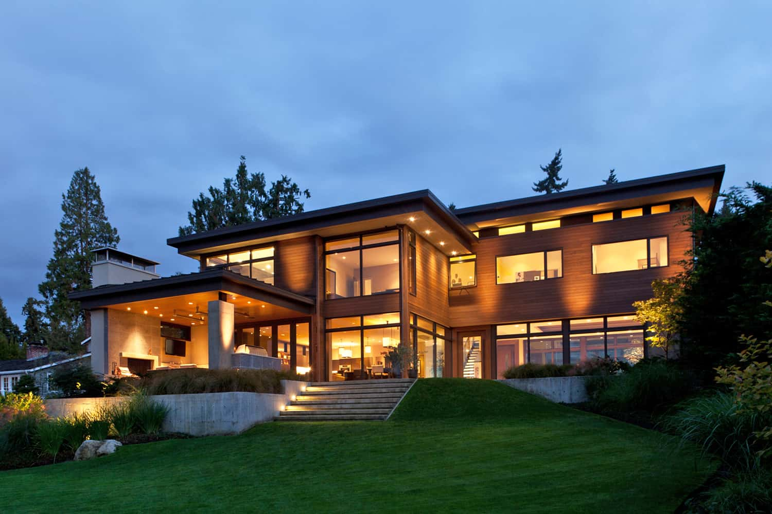 Modern Lake House Design: Contemporary Mercer Island Lake House Infused With Asian