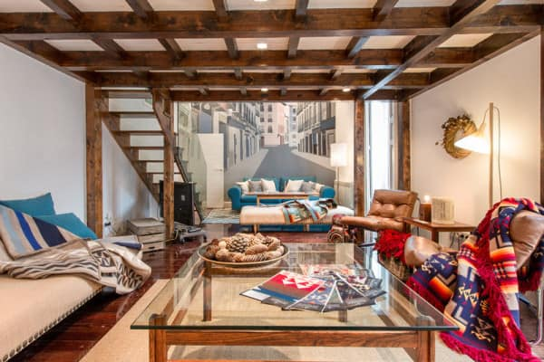 featured posts image for Cool bohemian style artist loft designed for travelers in Madrid
