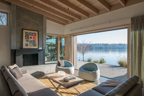 featured posts image for Modern Mercer Island home offers serene lakeside views