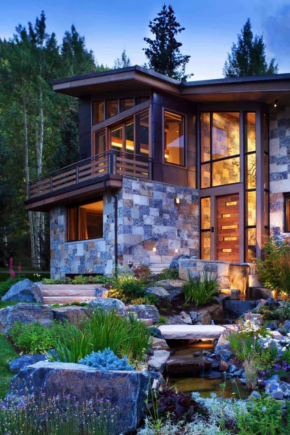 Captivating modern rustic home in the colorado mountains for Modern rustic house plans