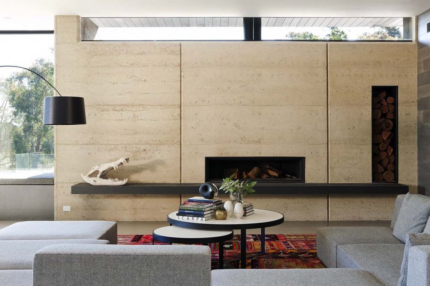 Rammed Earth House-Robson Rak Architects-06-1 Kindesign