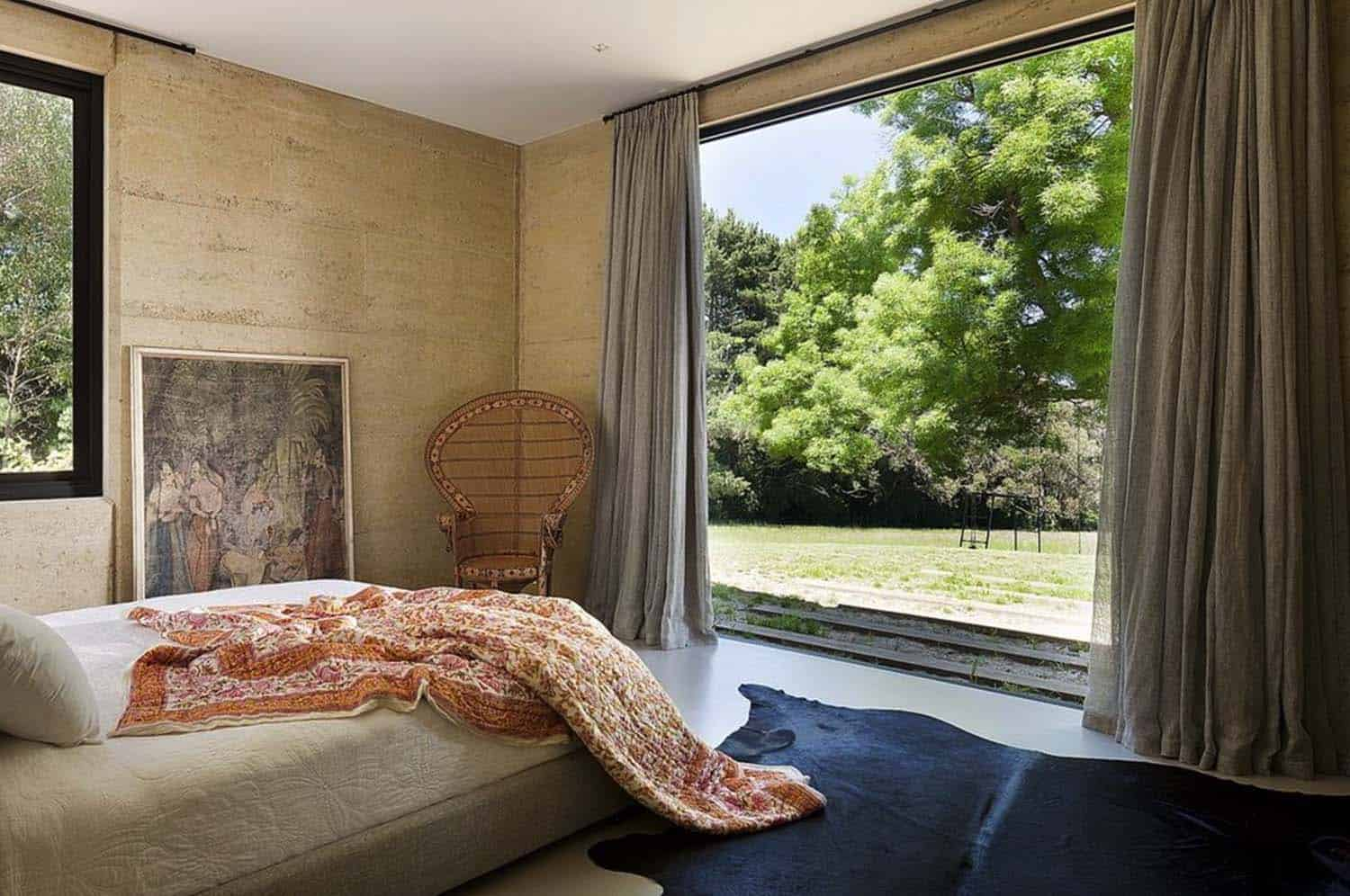Rammed Earth House-Robson Rak Architects-14-1 Kindesign