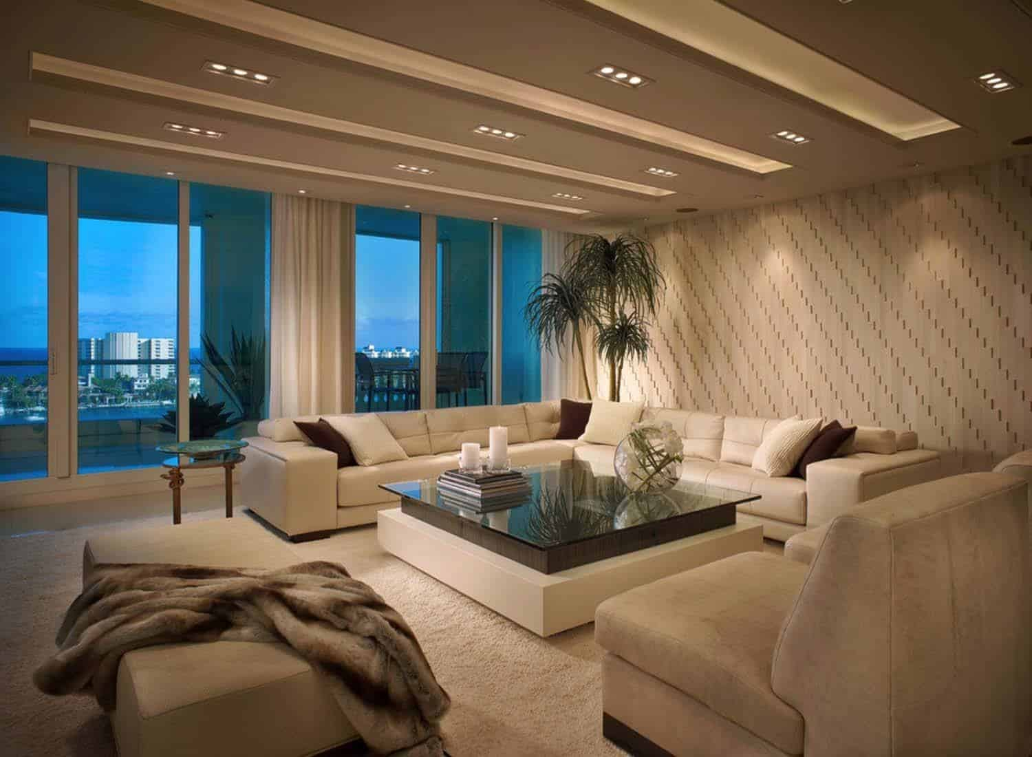 Impeccable design details in luxurious boca raton residence for Living room theater boca raton