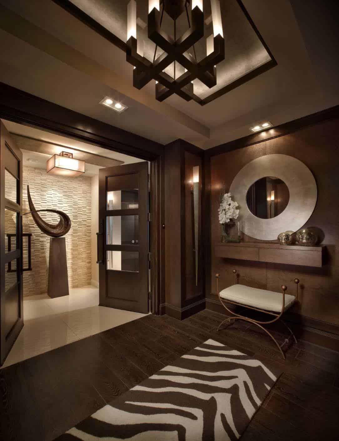 Impeccable design details in luxurious boca raton residence for Brown s interior design boca raton fl