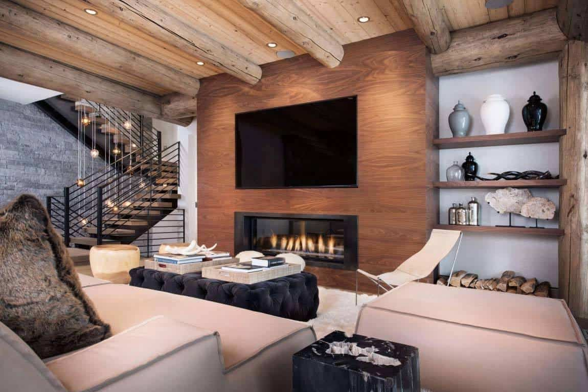 Contemporary reinterpretation of traditional chalet ski haus