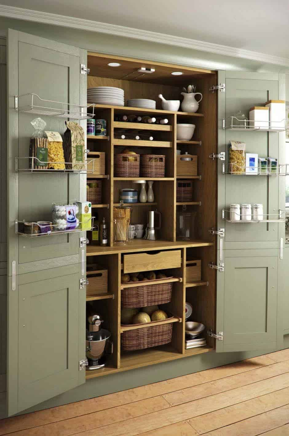Brilliant 35 Clever Ideas To Help Organize Your Kitchen Pantry Interior Design Ideas Tzicisoteloinfo