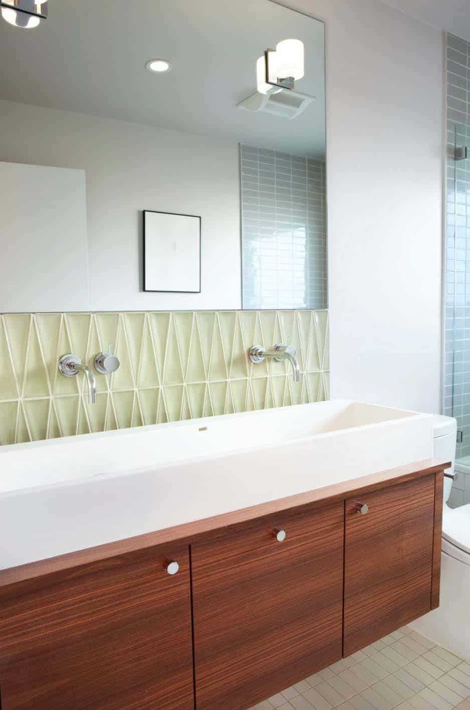 mid century bathroom. Mid-Century Modern Bathroom Ideas-22-1 Kindesign Mid Century C