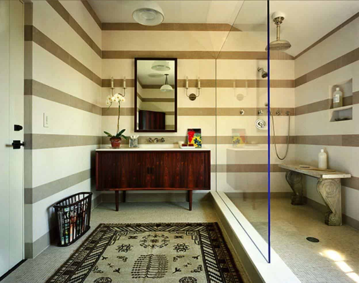 Bathroom Design Ideas With Stripes ~ Amazing mid century modern bathrooms to soak your senses