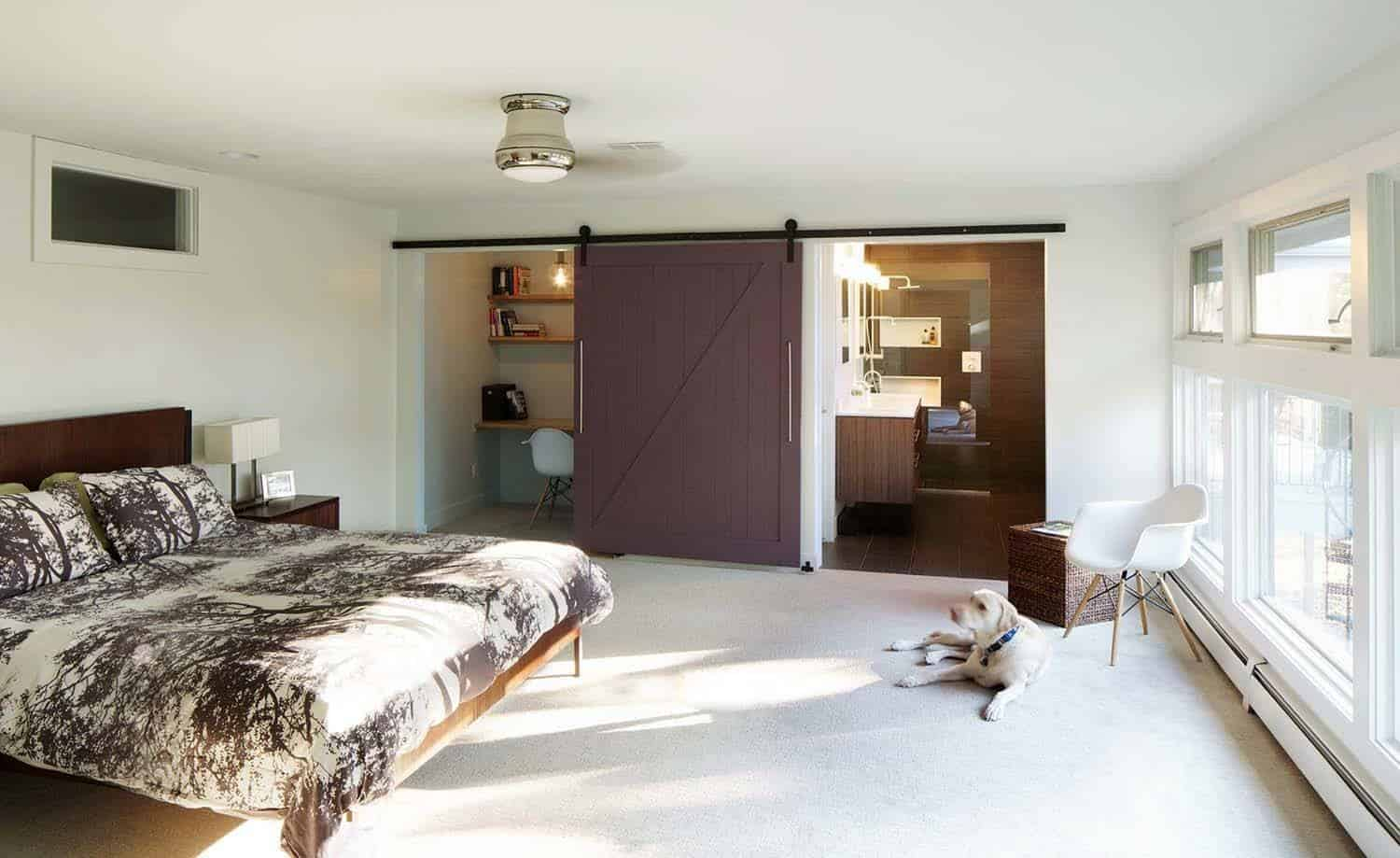 carpeted photo sized white in stylish bedroom design master floor midcentury and modern photos london mid century ideas with walls gray