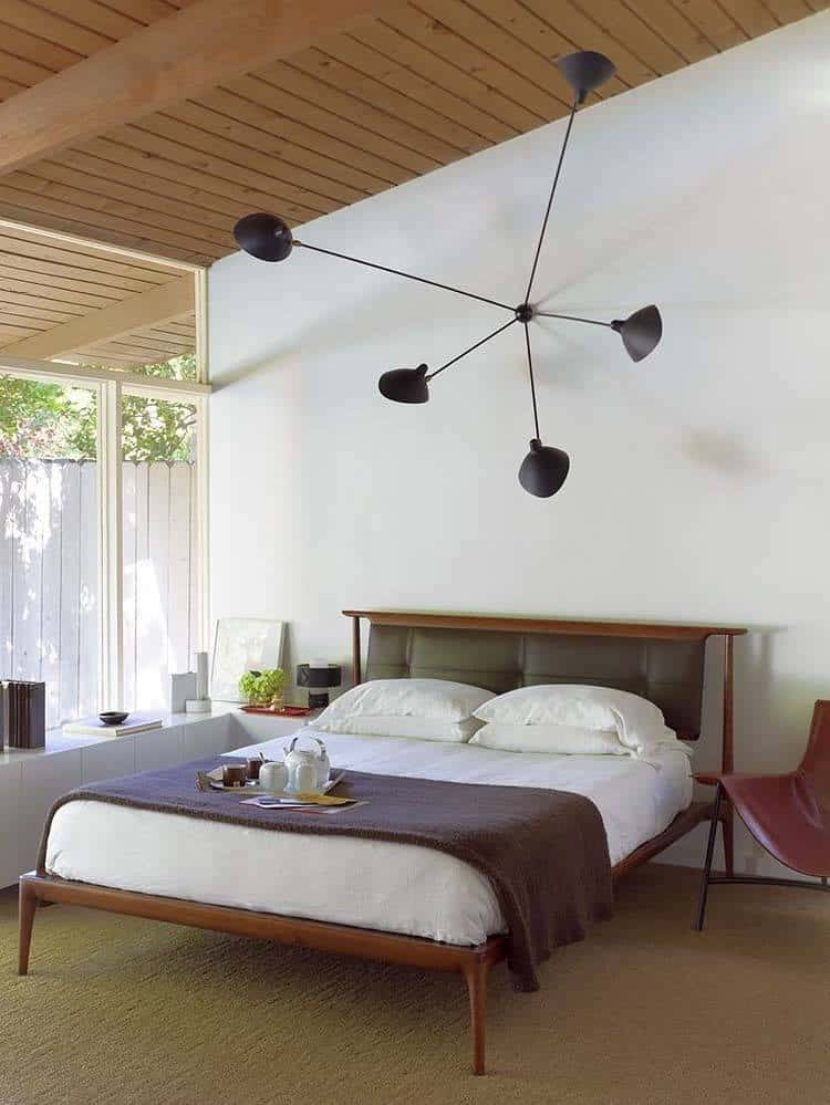 bedroom decorating century mid modern ideas orange midcentury