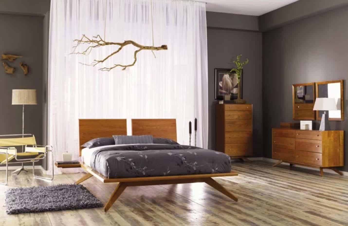35 Wonderfully Stylish Mid Century Modern Bedrooms,Spring Painting Ideas
