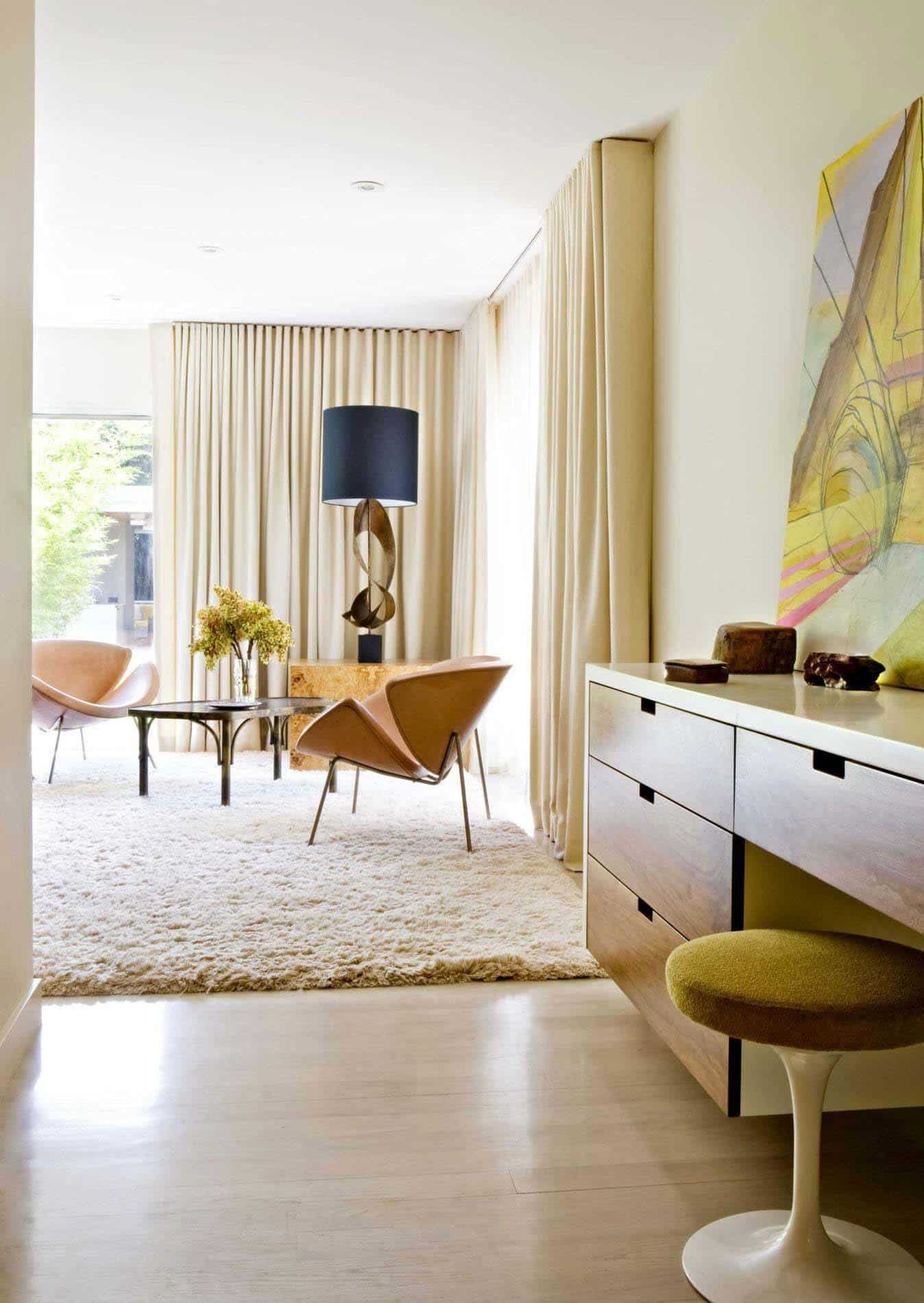 Playfully designed mid century ranch house in brentwood - Mid century designers ...