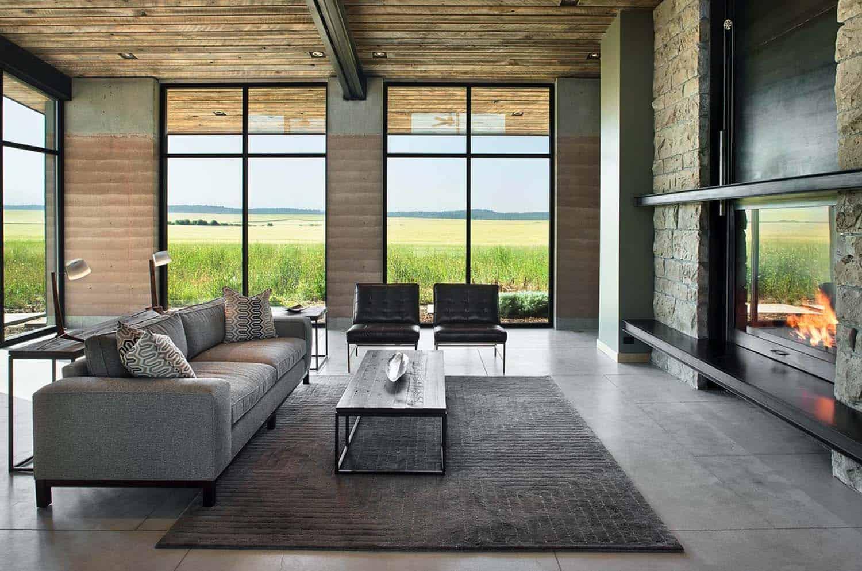 Rammed Earth House-Ward Blake Architect-07-1 Kindesign