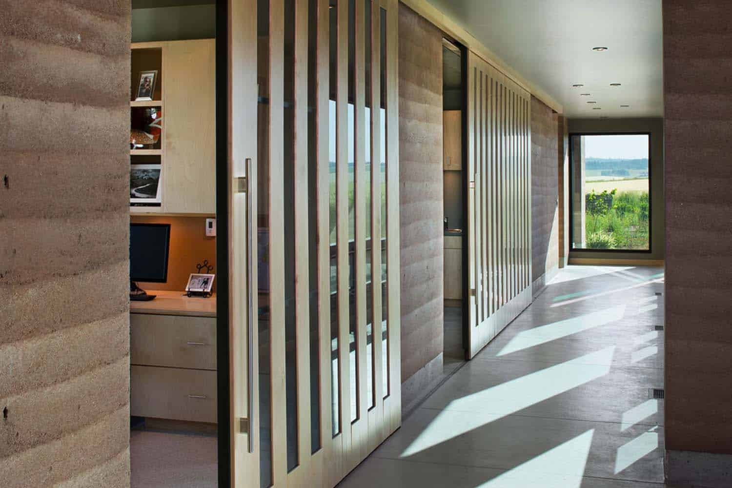 Visionary Residence In Idaho Comprised Of Rammed Earth