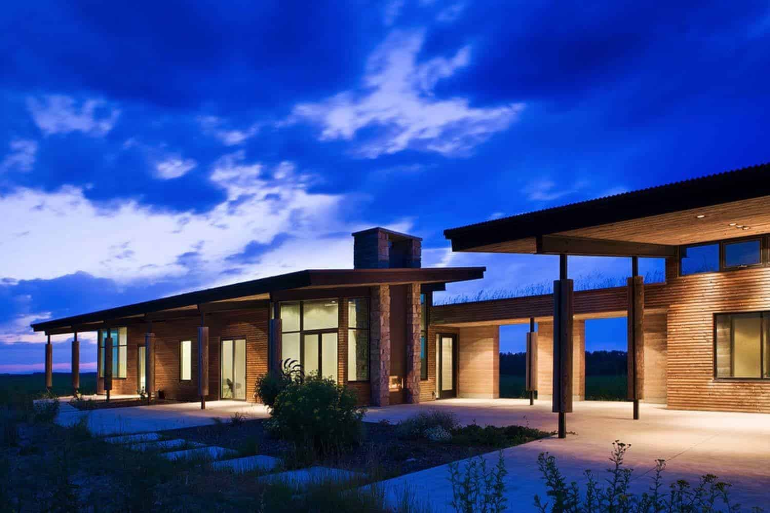 visionary residence in idaho comprised of rammed earth. Black Bedroom Furniture Sets. Home Design Ideas