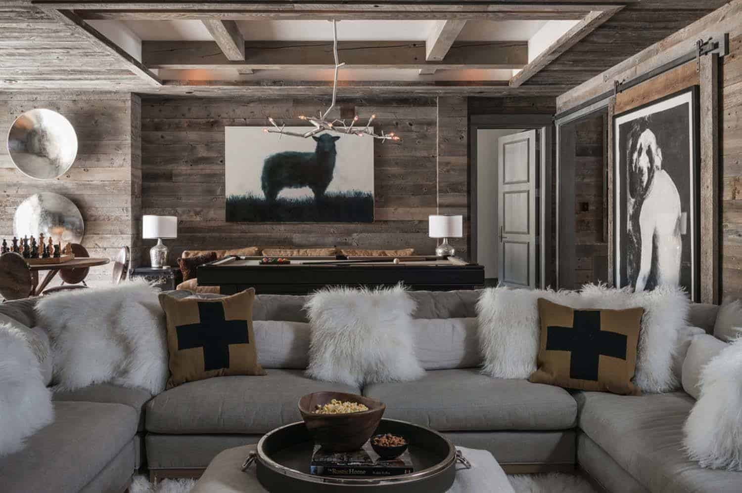 Ski Chalet Interior Design ski-in/ski-out chalet in montana with rustic-modern styling