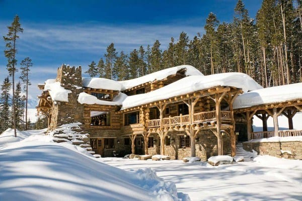 featured posts image for Rustic elegance re-defined in a Big Sky mountain retreat