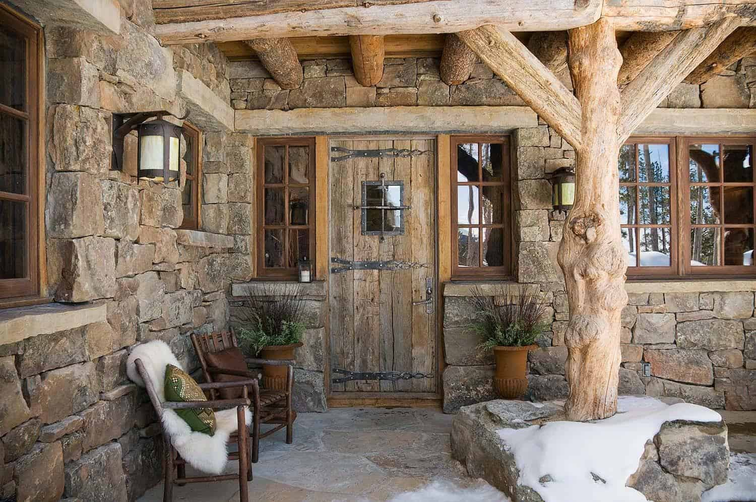 Rustic elegance re defined in a big sky mountain retreat for Rustic retreat