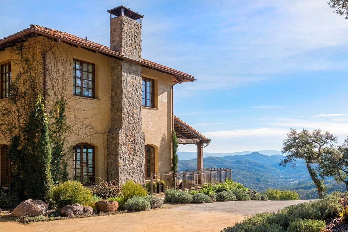 3 Bedroom Cabin Floor Plans Breathtaking Tuscan Inspired Vacation Villa In Napa Valley