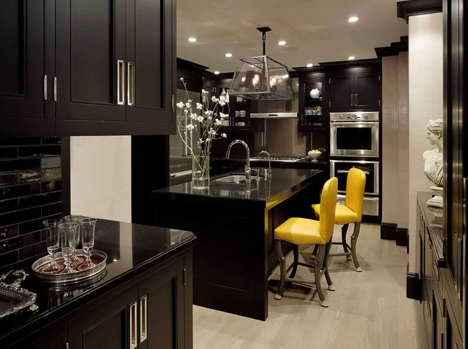 dark kitchen ideas 43 dramatic black kitchens that make a bold statement 11323