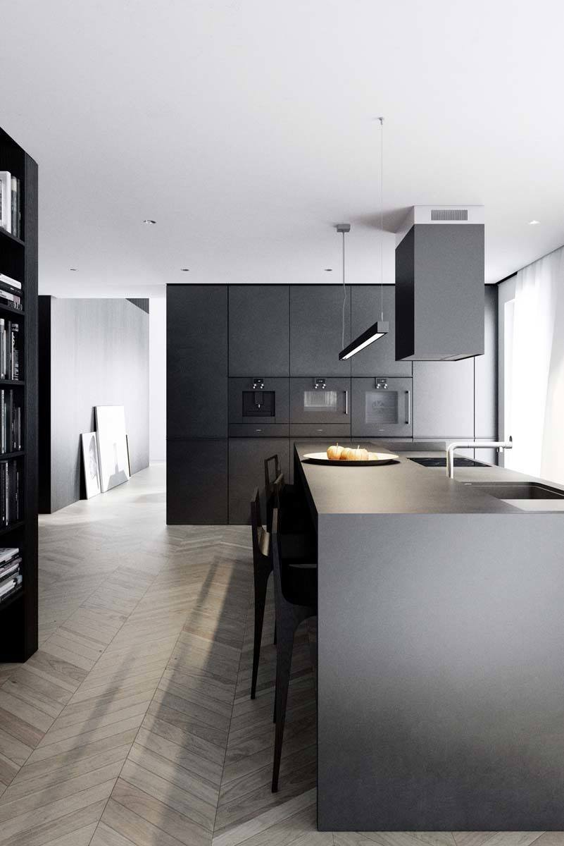 Dramatic Black Kitchen Ideas-17-1 Kindesign