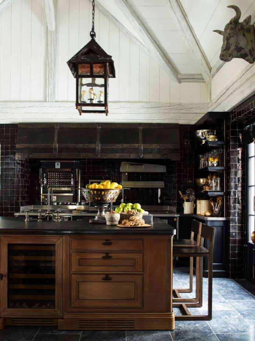 Dramatic Black Kitchen Ideas-29-1 Kindesign