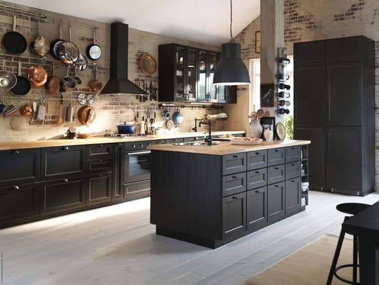 Dramatic Black Kitchen Ideas-33-1 Kindesign