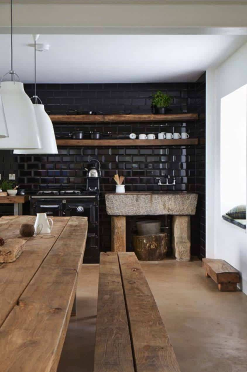 Dramatic Black Kitchen Ideas-43-1 Kindesign