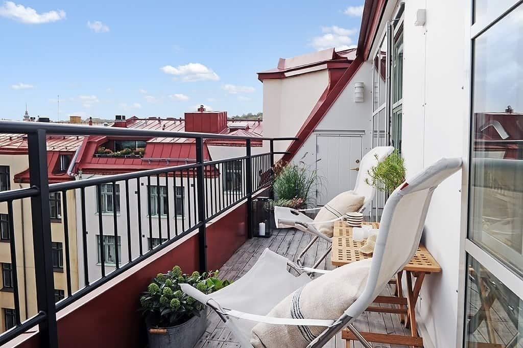 Райское местечко для отдыха - дизайн открытого балкона (фото.