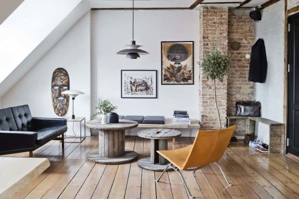 featured posts image for Masculine style pad with a rooftop perch in Copenhagen