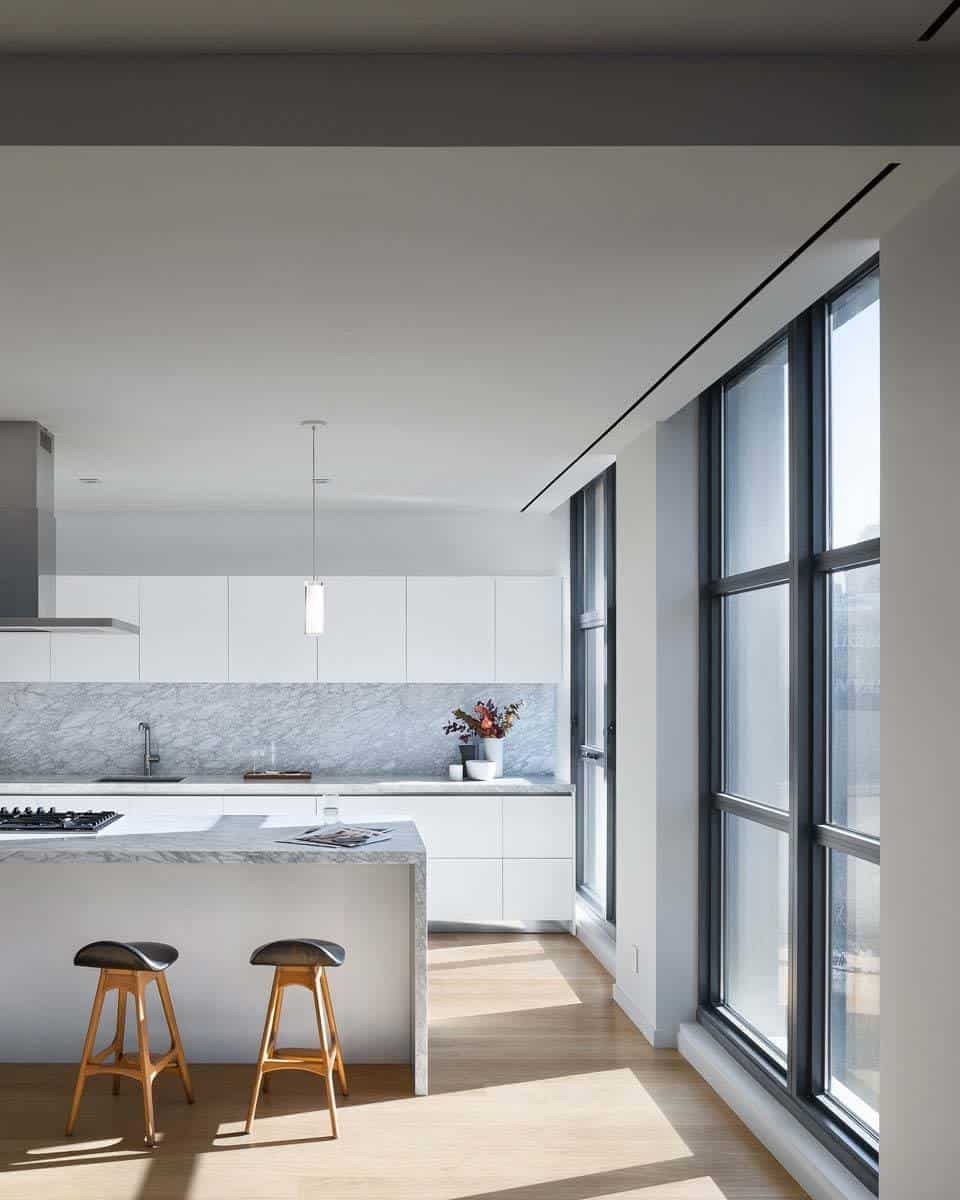 Modern Penthouse Design Overlooking The Minneapolis Lakes: A Sleek Minimalist Penthouse In The Heart Of TriBeCa, NY