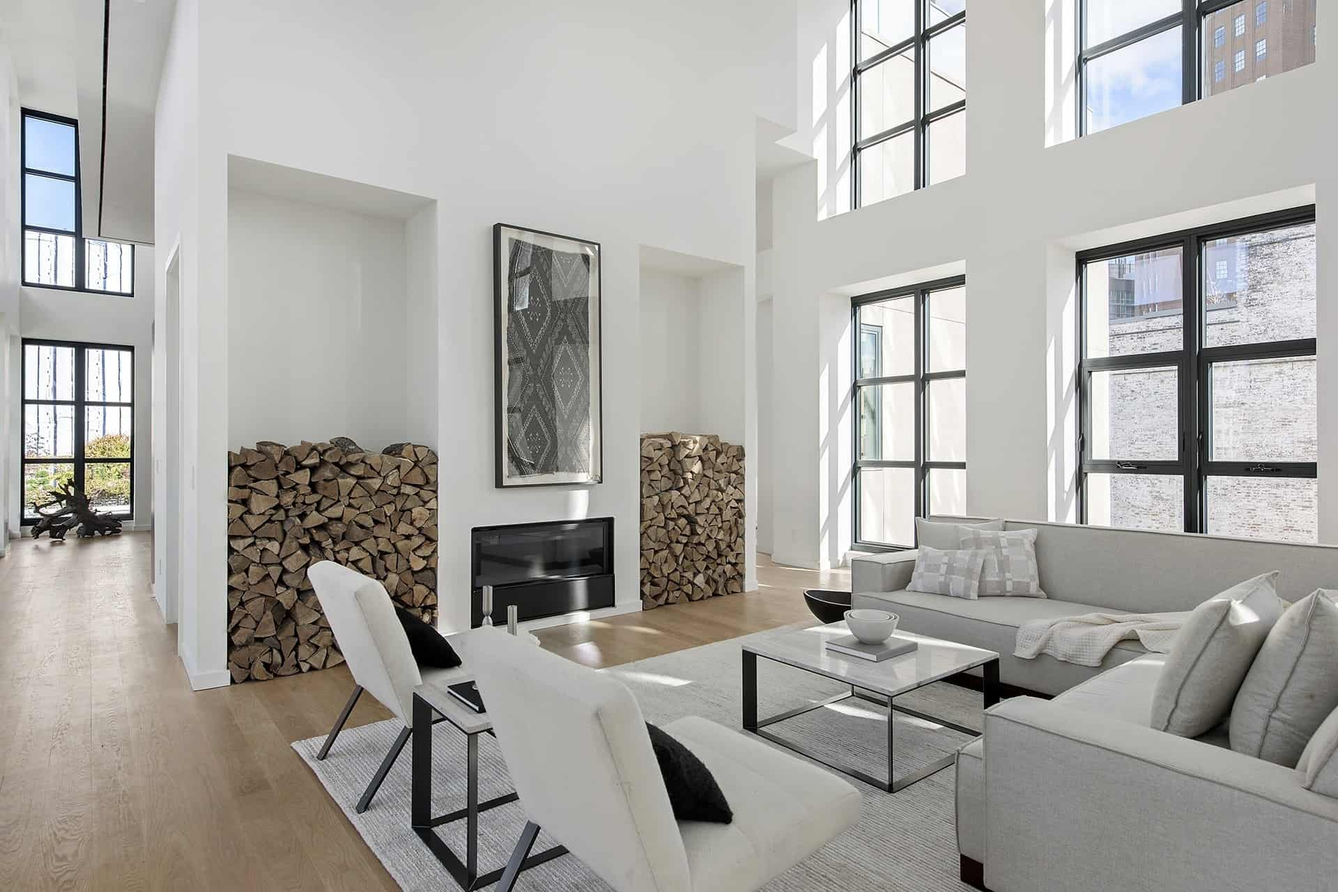 A sleek minimalist penthouse in the heart of tribeca ny for Penthouse apartments in nyc