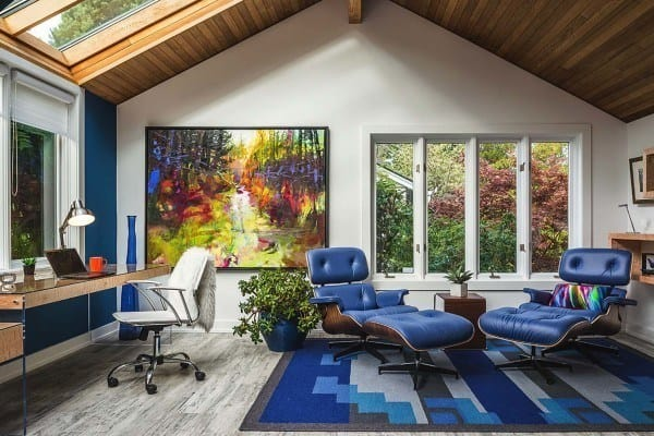 featured posts image for Colorful accents elevate chic Vancouver Island home