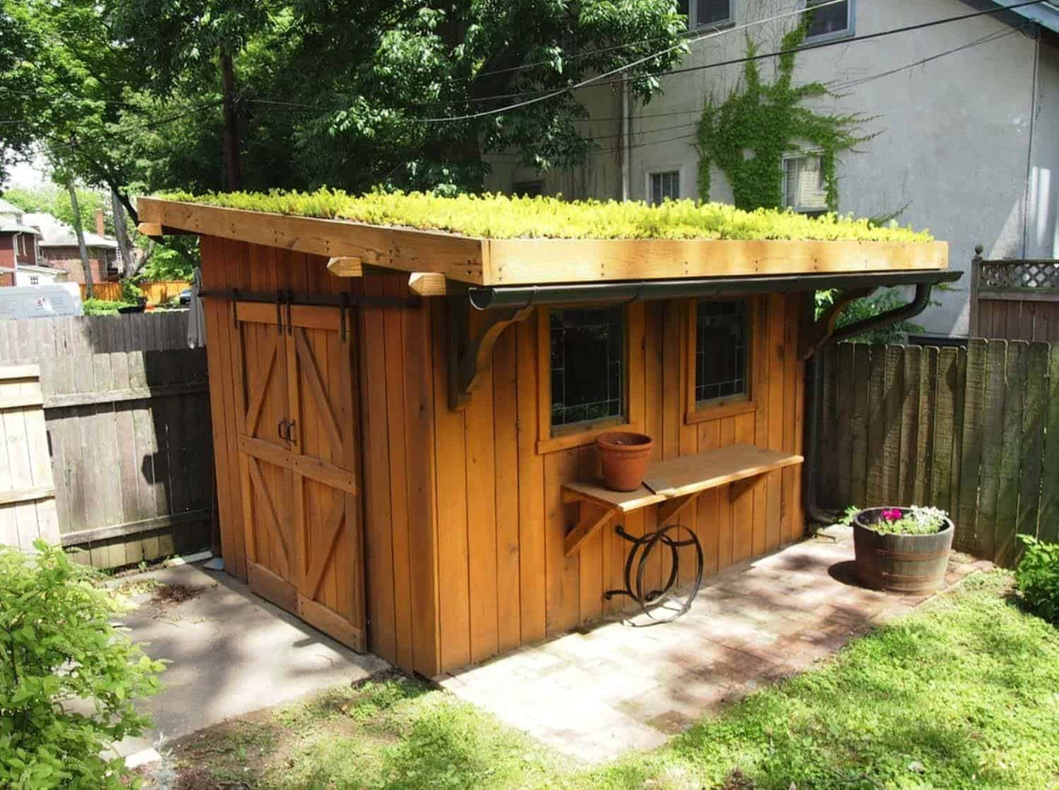 40 simply amazing garden shed ideas for Building a shed style roof