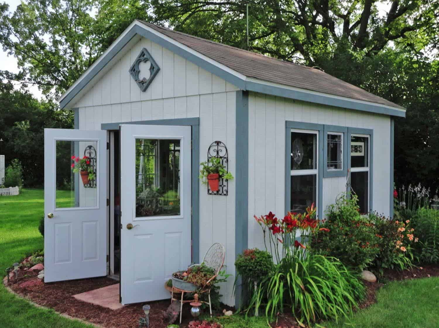 40 simply amazing garden shed ideas for Garden pool sheds
