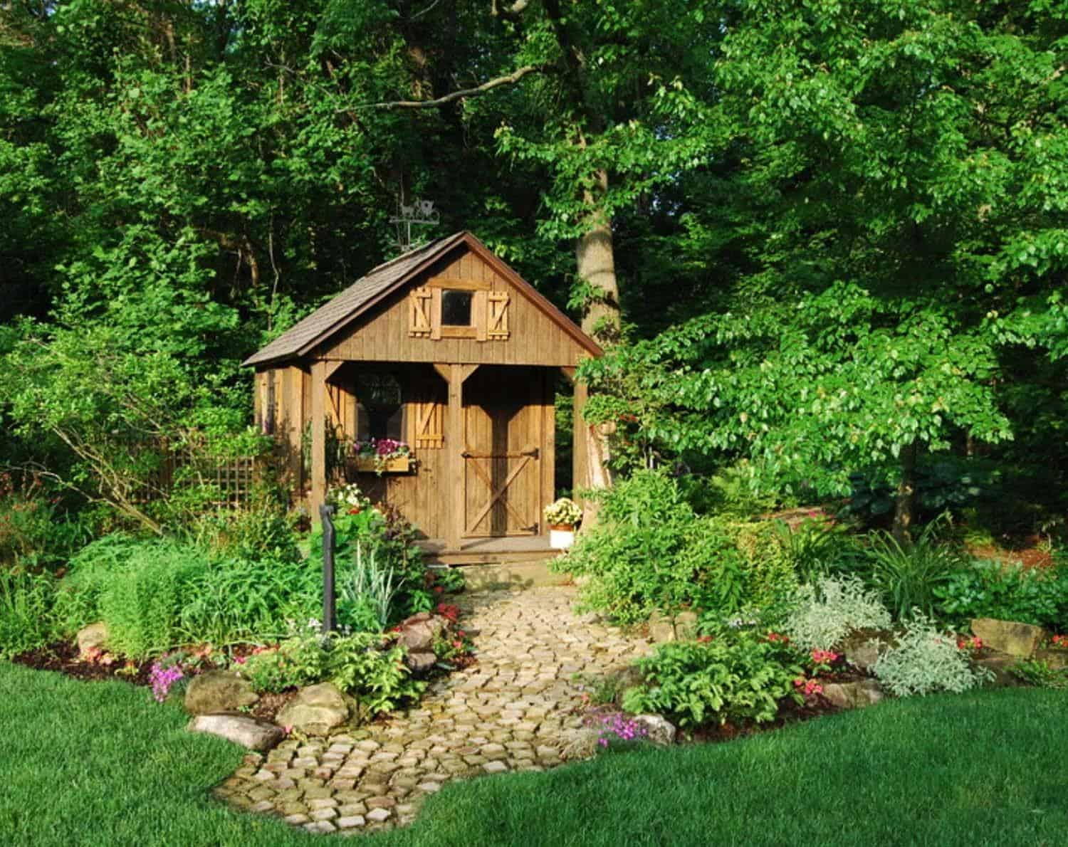 40 simply amazing garden shed ideas for Garden shed pictures