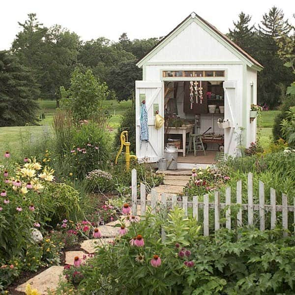 Shed color ideas Traditional Garden Shed Ideas271 Kindesign Aaronjosephco 40 Simply Amazing Garden Shed Ideas