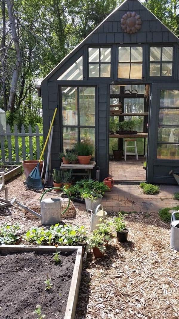 40 simply amazing garden shed ideas for Bhg greenhouse