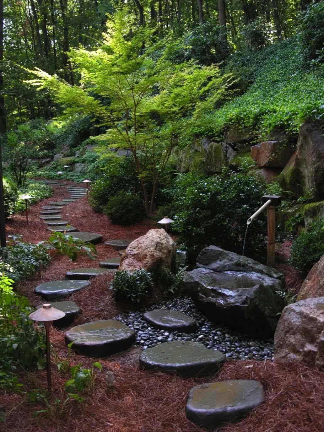 Garden Stone Pathway Ideas-05-1 Kindesign