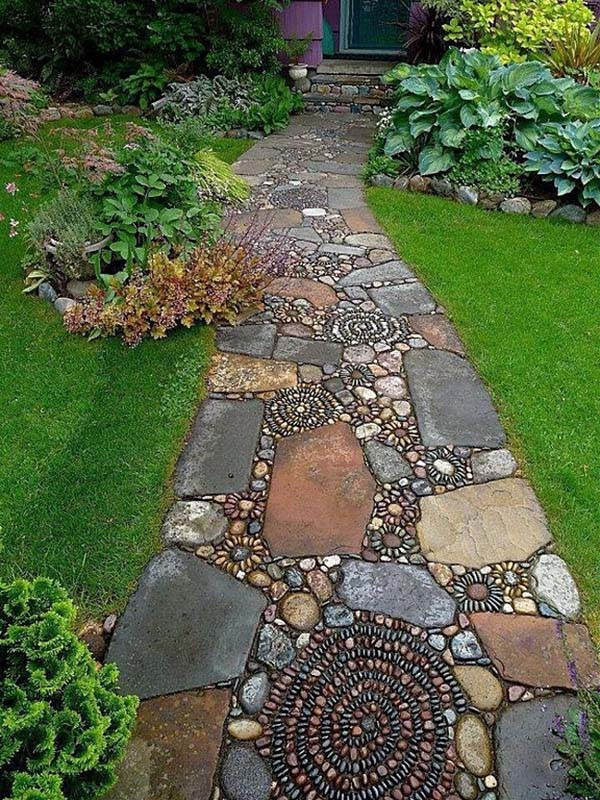 Garden Stone Pathway Ideas-09-1 Kindesign