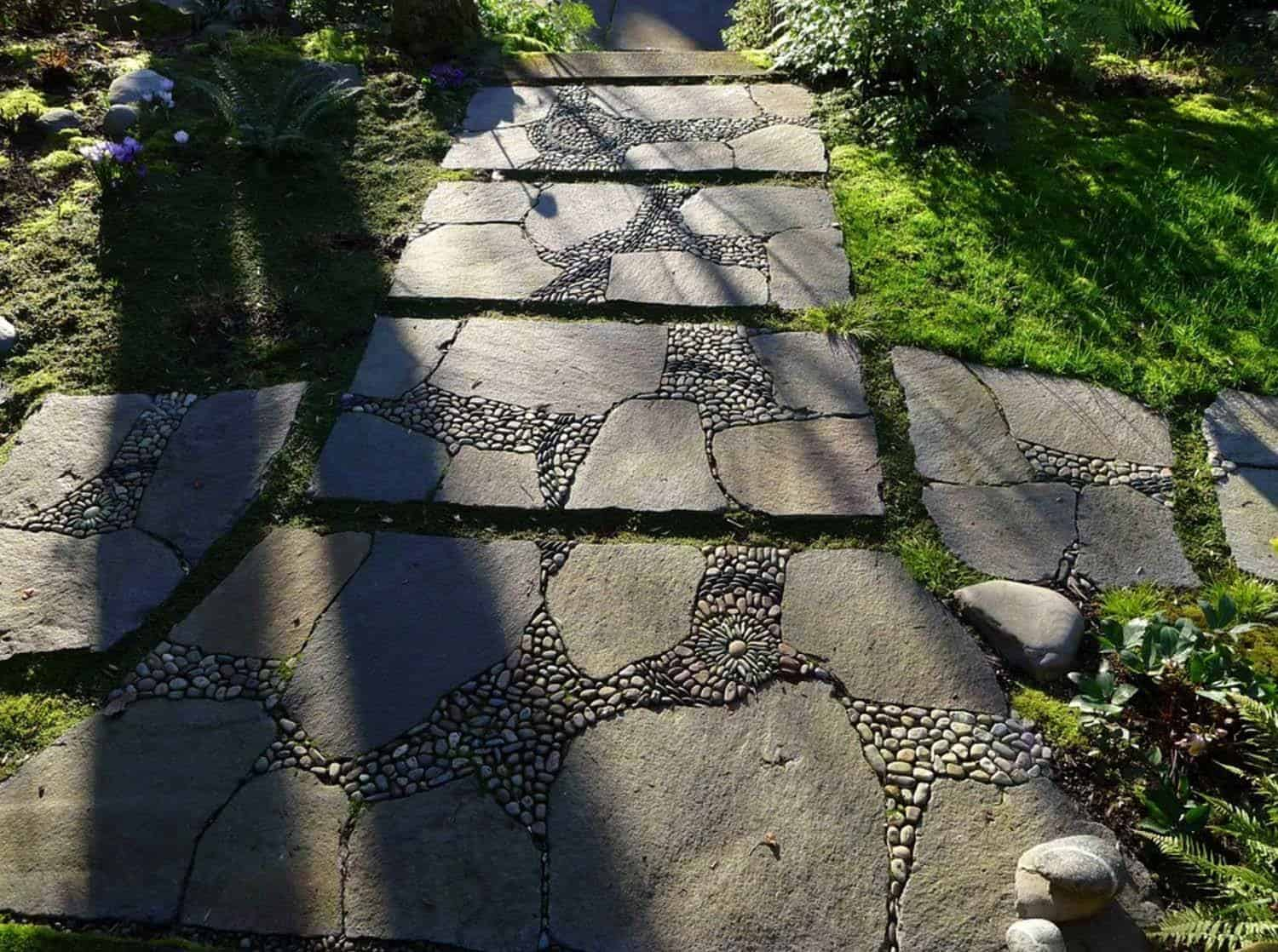 Garden Stone Pathway Ideas-14-1 Kindesign