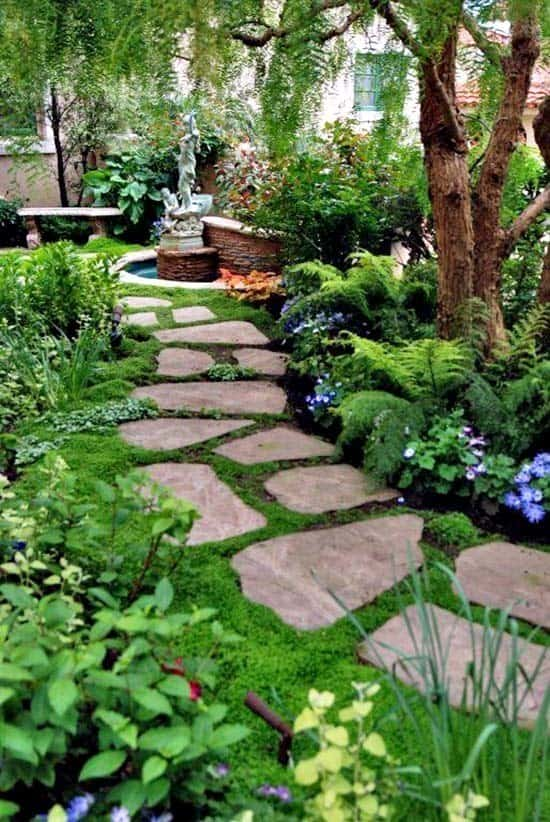 Garden Stone Pathway Ideas-34-1 Kindesign