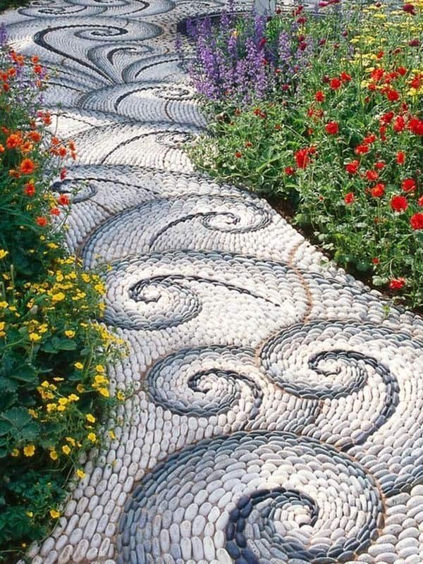 Garden Stone Pathway Ideas-35-1 Kindesign