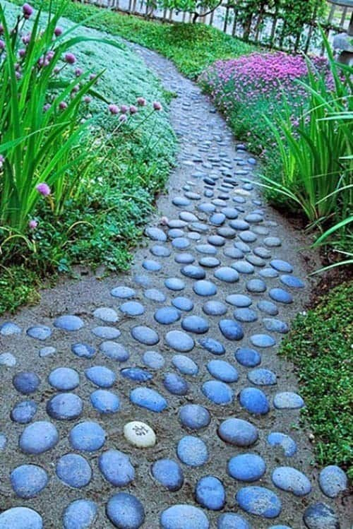 Garden Stone Pathway Ideas-40-1 Kindesign