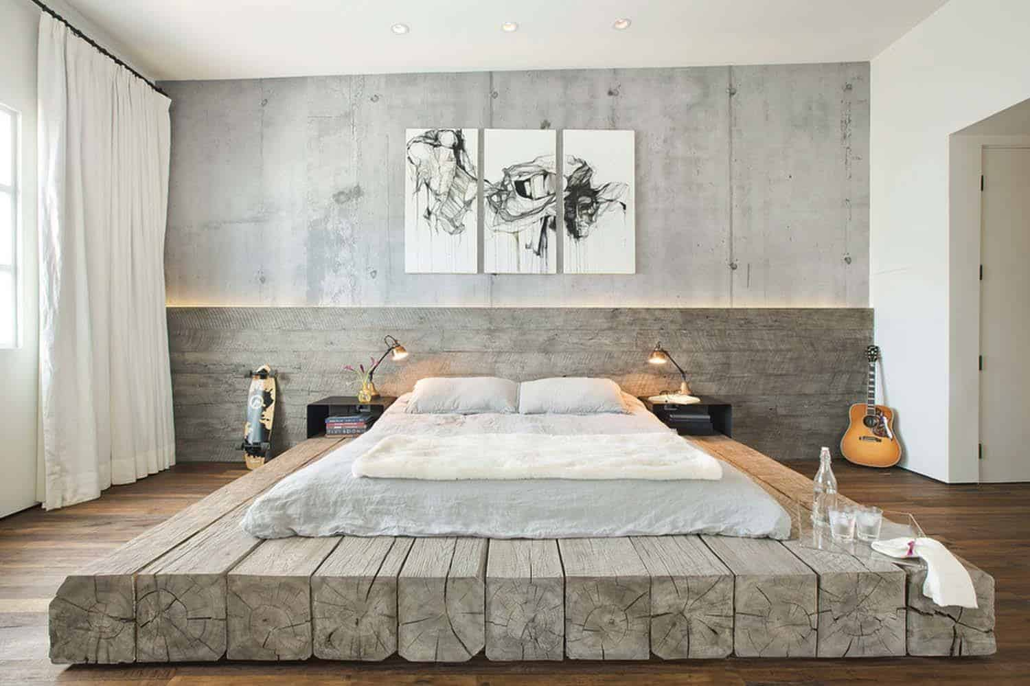 Industrial Style Bedroom Design Ideas-05-1 Kindesign