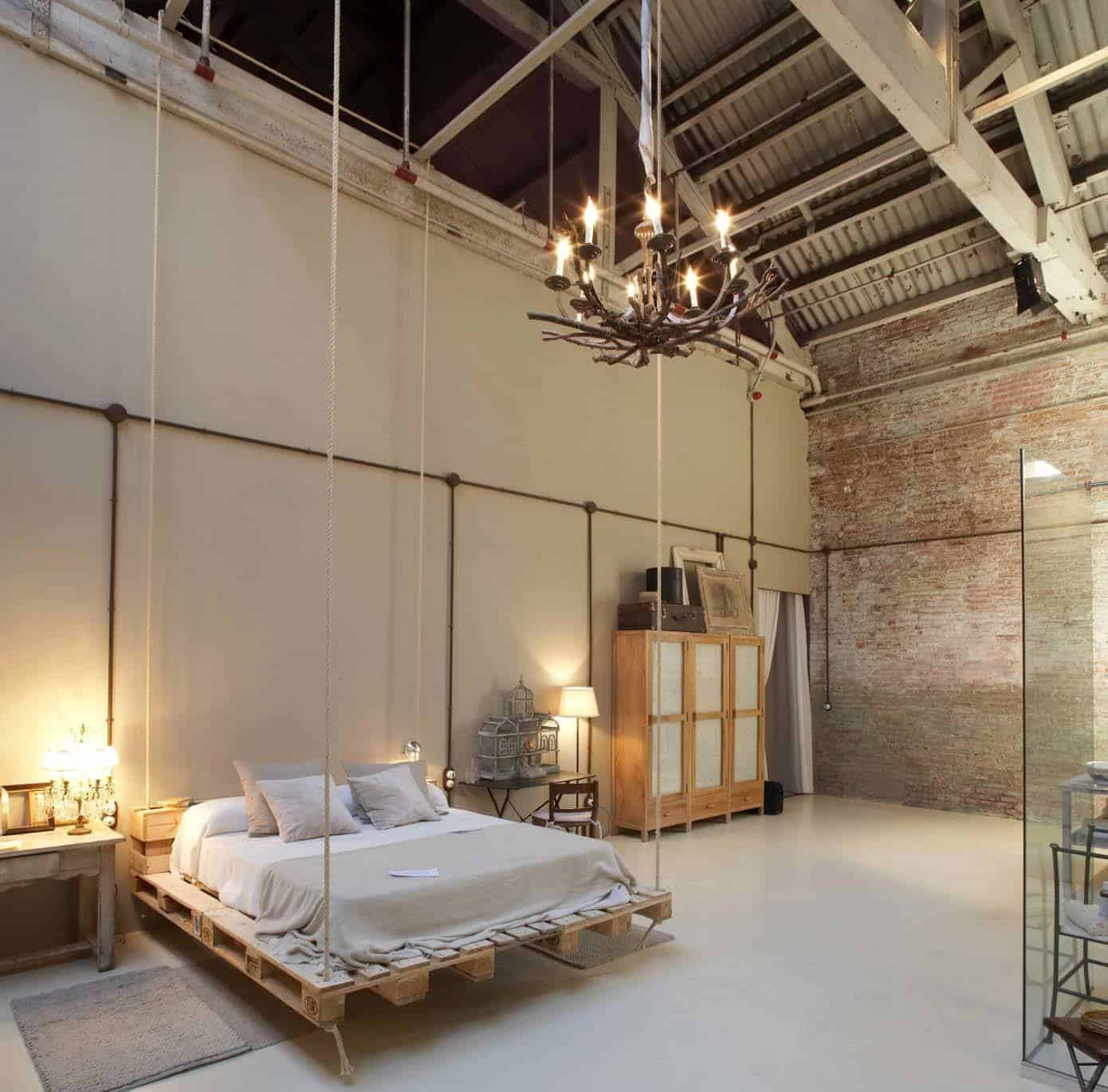 35 edgy industrial style bedrooms creating a statement. Black Bedroom Furniture Sets. Home Design Ideas