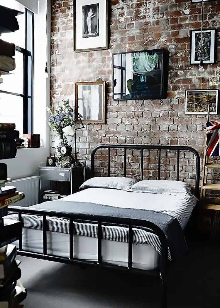 Industrial Style Bedroom Design Ideas-08-1 Kindesign